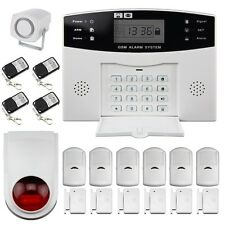 Wireless GSM Burglar Alarm System Home Security(6xSensor + 6xContact + 4xRemote)