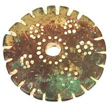 Art Africain - Ancien Poids à Peser l'Or en Bronze Circulaire - TOP - 1,5 Once