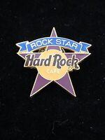 ONLINE🎸Hard Rock CAFE® HRC PIN🎸STAFF MEMBERS ONLY ROCK STAR Purple YELLOW LOGO