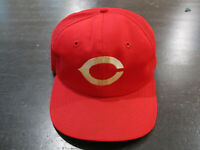 VINTAGE Cincinnati Reds Hat Cap Red White Mesh Trucker Snap Back Baseball 90s *