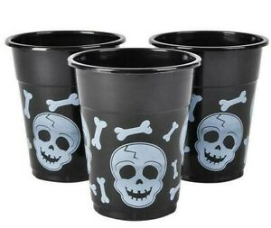 """50 Pack - SKULL DISPOSABLE CUPS 4"""" Halloween Party Favors"""