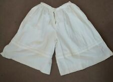 Oilily Womens White Eyelet Cotton Bloomers Pantaloons Culottes M Made in Holland