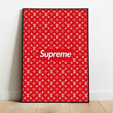 Supreme x LV Hypebeast Poster