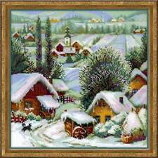 "Counted Cross Stitch Kit RIOLIS - ""Serbian village"""