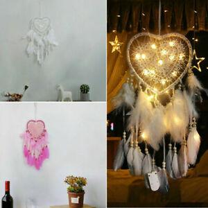 LED Light Up Dream Catcher Hanging Decor Bedroom Background Dreamcatcher Feather