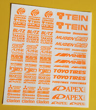 RC Drift BRIGHT ORANGE stickers decals HPI Losi Drift-R Kyosho