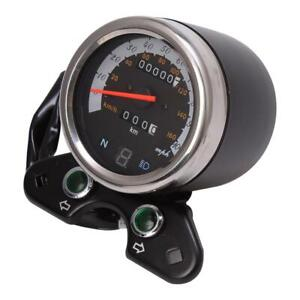 Motorcycle Speedometer For Cafe Racer LED Odometer Gear Indicator Tachometer