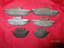 Micro Winged Wheel Weights 1, .75, .50 ounce 6 pieces Camaro Corvette Chevelle