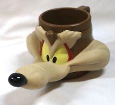 Wile E Coyote 3D Mug Cartoon Fig '92 Warner Bro VTG Loony Tunes Road Runner Wolf