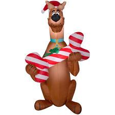 CHRISTMAS SANTA SCOOBY DOO BONE  5 FT AIRBLOWN INFLATABLE YARD DECORATION