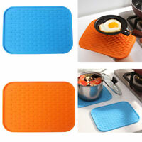 New Durable Heat Resistant Silicone Table Mat Placemat Non-slip Pan Pot Decor