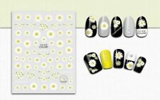 Nail Art 3D Decal Stickers White Daisy Flowers CA016