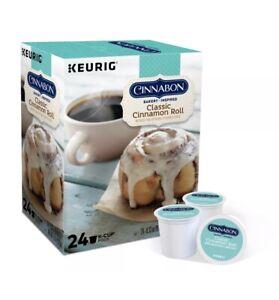 Cinnabon Classic Cinnamon Roll Flavored K-Cup Coffee Pods, Light Roast, 24 Count