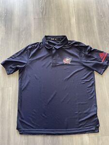 Adidas New Washington Captials Mens Game Mode Team Collard Coach Shirt XL