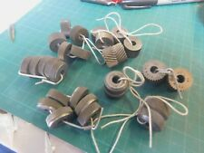 """Lot of 14 Knurl Sets Reed, Armstrong, B&S & Form Rool Tools 1/4"""" ID 3/4"""" OD"""