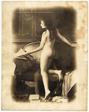 Nude woman Glamour Large vintage silver photo warm tone M. Bozzetto 1930c XL217