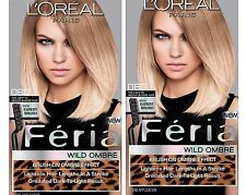 X2 LOT L'Oreal Feria Wild Ombre 080 Hair Dye Color Light to Medium Blonde G35