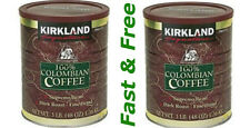 Kirkland Signature 100% Colombian Coffee Supremo Bean Dark 3LB, 2 X 48 oz= 96 oz