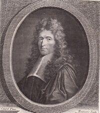 Portrait XVIIIe Jean Domat Daumat Juriste Avocat Ecrivain Janséniste 1786