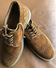 Ask The Missus Mens Brogues Size 6 Tan Suede