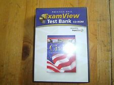 CIVICS:GOVERNMENT AND ECONOMICS IN ACTION EXAM VIEW Test Bank CD-ROM