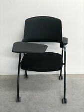BRAND NEW DESIGN BLACK PLASTIC BLACK FRAMED OFFICE HOME MEETING STUDY CHAIR (963