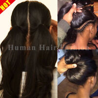 100% Malaysian Human Hair 360 Lace Front Wig Silk Top Full Lace Wigs Straight @W