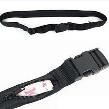 Unisex Black Secret Travel Waist Money Belt Hidden Security Safe Pouch Wallet C