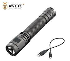 New Jetbeam Niteye EC-A12 Cree XP-L 380 Lumens USB Charge LED Flashlight (AA 2A)