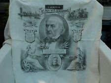 IN MEMORIAM WE GLADSTONE MP POLITICS LINEN CLOTH BIRTH DEATH DATES & CAMEO