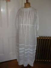 Antique Edwardian Cotton Lawn Dress Size 10/12