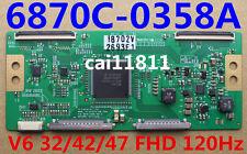 T-con board 6870C-0358A MODEL: V6 32/42/47 FHD 120Hz Original 6870C-0358A