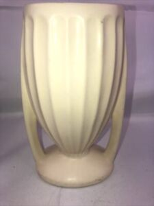 "VINTAGE Hull Mardi Gras Vase No.215 - 9"" Ivory"