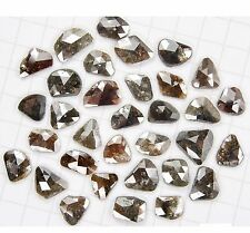 3.00 ct lot Natural Loose Diamond Slices Gray Brown Color 4.90 to 5.60 MM