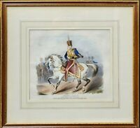 Antique Lithograph Prince Albert In the uniform of the 11th Hussars c1841