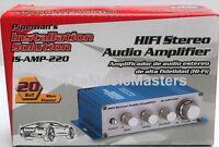 2 Channel Stereo 20 Watt Mini Car Home Amp Audio PA Power Amplifier 3.5mm & RCA