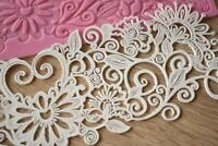 MBK016 Border Silicone Lace Mat 16 x 40cm Mould Stencil Fondant Cake Decorating