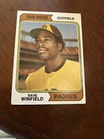 1974 Topps Dave Winfield ROOKIE San Diego Padres #456 Baseball Card