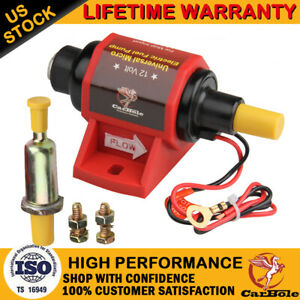 42S Universal Micro Electric Fuel Pump Low Pressure 2-3.5PSI Polymer Gasoline