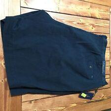 Ralph Lauren Polo Cotton Khaki, Chino Flat Front 9in. Inseam 50W Navy