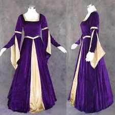 Purple Velvet Medieval Renaissance Cosplay Gown Dress Costume Wedding LARP XL 1X