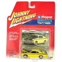 Johnny Lightning Mopar Muscle 1971 71 Plymouth Duster 340 Car Yellow 1/64 Scale
