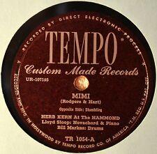 Herb Kern at the Hammond Organ Mimi 78 NM Orig Slv Tempo Stumbling Pop Instro