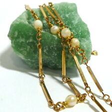 Collares y colgantes de joyería con gemas de oro amarillo de perla