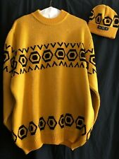 Men's vintage MCM sweater (with matching beanie) Size- xxl