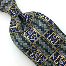 Rooster Tie Art Nouveau Olive-Green Gold Blue Silk Necktie Boys Child I17-38 New
