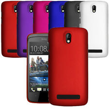 Hybrid Plastic Hard Case Slim Phone Cover & Screen Guard For HTC Desire 500