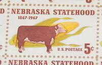 1967 sheet, Nebraska Statehood Sc # 1328