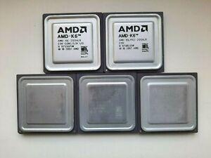 AMD K6 200 K6/PR-200 K6-2 350 380 400 AMD K-6 Vintage CPU, GOLD