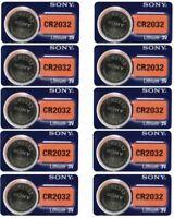10 NEW  Fresh SONY CR2032 DL2032 ECR2032 CMOS Lithium 3V Watch Battery Exp 2027